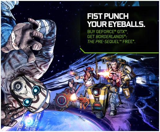 Free copy of Borderlands: The Pre-Sequel with purchase of GeForce GTX graphics card